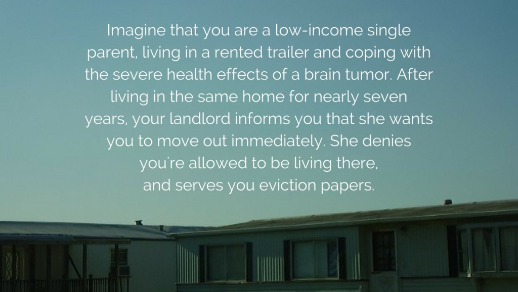 Low-income tenant faces illegal eviction
